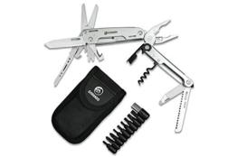 GORANDO® 16-in-1 Multitool Taschen-Messer | Multifunktions-Edelstahl-Werkzeug | extrem robust & mit extra großer Schere | ideal für Outdoor & Camping - 1