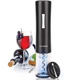 SAMEBOO Korkenzieher,Elektrischer Flaschenöffne Opener Automatische Weinöffner Luftdruck Vakuum Stopper Folienschneider Weinausgießer für Küche Hof Geschenk geeignet für Verwandte Freunde 2 in 1 - 1